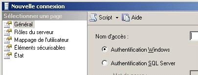 Securite Avec Microsoft Sql Server